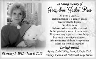 Jacqueline Jackie Rose