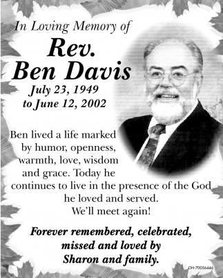 Rev. Ben Davis